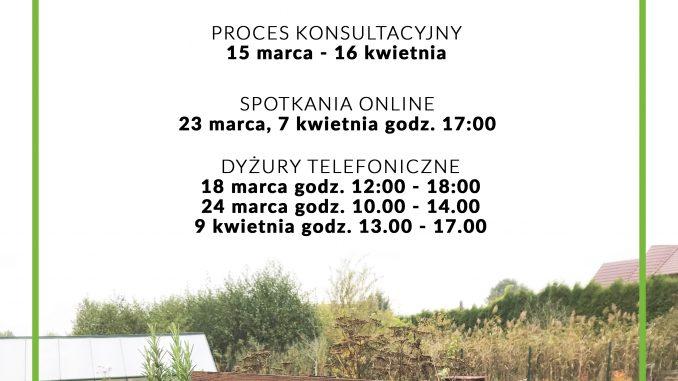 Plakat Konsultacje Ogrodów Społecznych