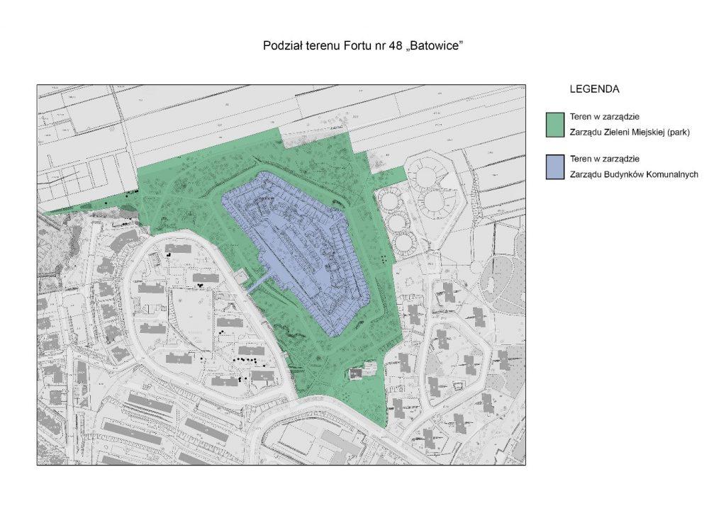 Plan podziału Fortu